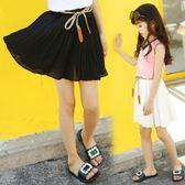 女童半身裙夏裝新款韓版雪紡百褶中大童半身裙 JD5497【KIKIKOKO】