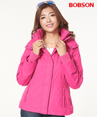 BOBSON 女款防風FLEECE配色外套  (37102-15)