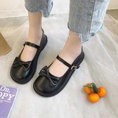 娃娃鞋 甜美蝴蝶結單鞋lolita圓頭淺口可愛洛麗塔小皮鞋學生軟妹鞋 彩希精品鞋包
