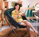 單人椅 沙發椅現代簡約懶人椅單人陽臺小沙發休閒臥室靠背椅折疊躺椅TW【快速出貨八折搶購】