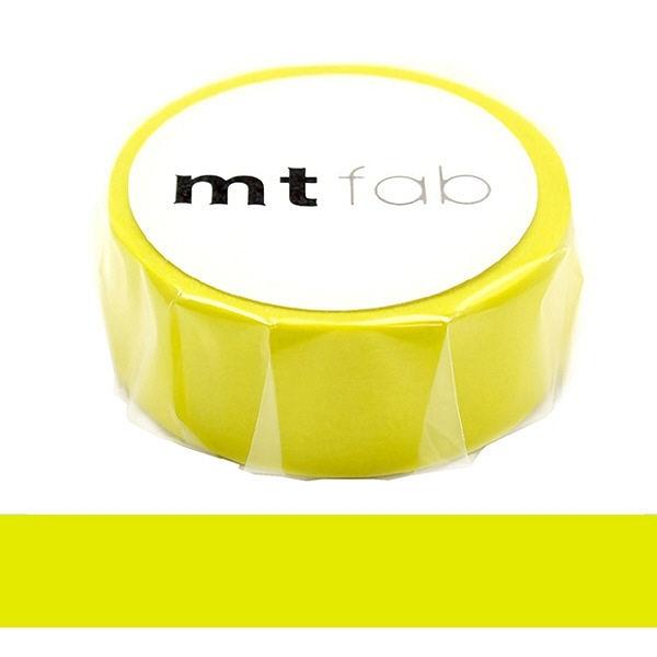 日本mt fab Masking Tape 和紙膠帶 螢光黃色 15mm