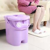 特加高厚 泡足三里穴位按摩帶蓋塑料泡腳桶洗腳桶足浴桶洗腳盆-Tmjp5