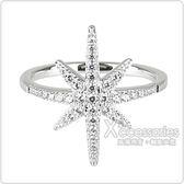 apm MONACO METEORITES系列晶鑽鑲飾流星設計純銀戒指(銀)