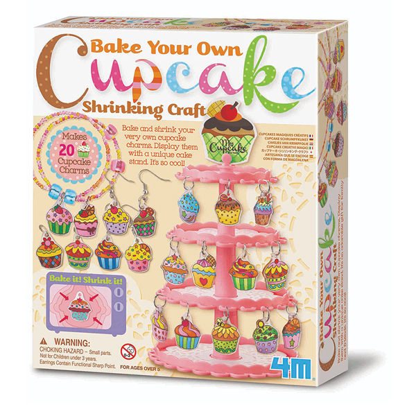 【4M】美勞創作系列-歡樂杯子蛋糕吊飾 Cupcake Shrinking Craft 00-04613