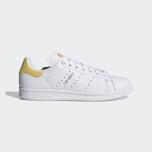 【折後$3080再送贈品】ADIDAS ORIGINALS STAN SMITH 皮革 燈心絨 運動鞋 H69023 白黃 女鞋