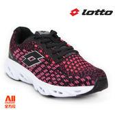 【LOTTO】女款 休閒/慢跑/運動 氣墊跑鞋-桃紅黑(L6612)全方位跑步概念館