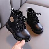 兒童靴子 兒童馬丁靴英倫風女童靴子春季寶寶加絨棉靴中小童皮靴男童【快速出貨八折搶購】