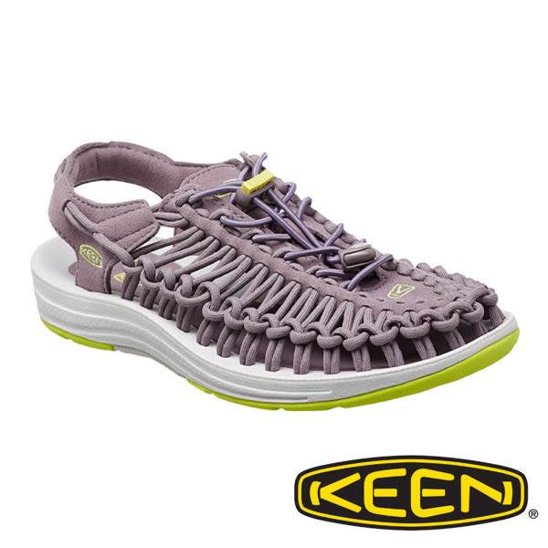 美國 Keen UNEEK 女 編織款拉繩涼鞋 灰/淺灰 1014970