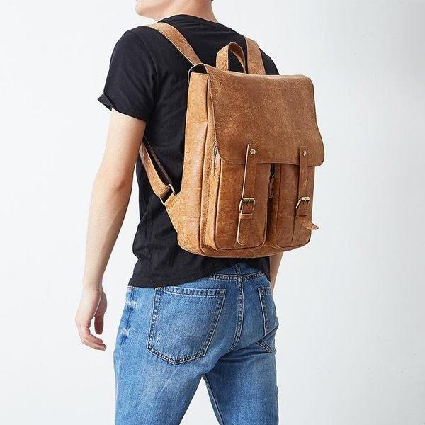 後背包 真皮後背包 時尚男包 行李包【城市風潮 】  JY 6355