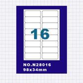 (5包)OGI A4標籤貼紙2欄8列/50張入 四邊圓角留邊 雷射.噴墨.點距陣各式列表機專用 標籤貼紙No.N28016
