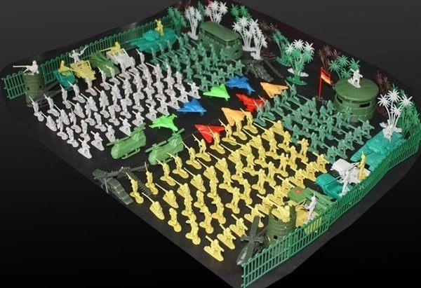仿真二戰軍事基地模型玩具  套裝【藍星居家】