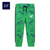 Gap男嬰幼童 Logo刷毛束口長褲 358914-翠綠