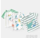 男童短袖上衣-男童短袖T恤2020夏裝新款童裝兒童寶寶1歲3小童上衣打底衫U11664 喵喵物語
