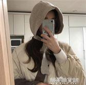 韓國人氣款凹造型減齡繫帶護耳保暖針織毛線帽子女秋冬解憂雜貨鋪