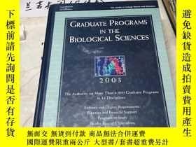 二手書博民逛書店英文原版:Graduate罕見Programs in the Biological Sciences生物科學研究生