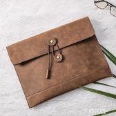 新款時尚韓版男包信封包手包復古文件包商務休閒男包手拿公文包『艾麗花園』