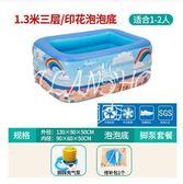 兒童充氣游泳池加厚新生兒寶寶家用游泳桶嬰兒小孩玩具洗澡戲水池