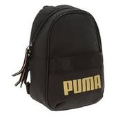 PUMA 背包 WMN CORE BASE MINIME BACK 黑金 小LOGO 基本款 (布魯克林) 07713901