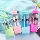 萬聖節大促銷 樂客玻璃杯透明便攜創意可愛杯子韓國水杯帶蓋男女學生簡約隨手杯