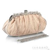春季時尚百搭綢緞包晚宴會包搭配旗袍包手提包鑲鉆女士禮服手拿包水晶鞋坊