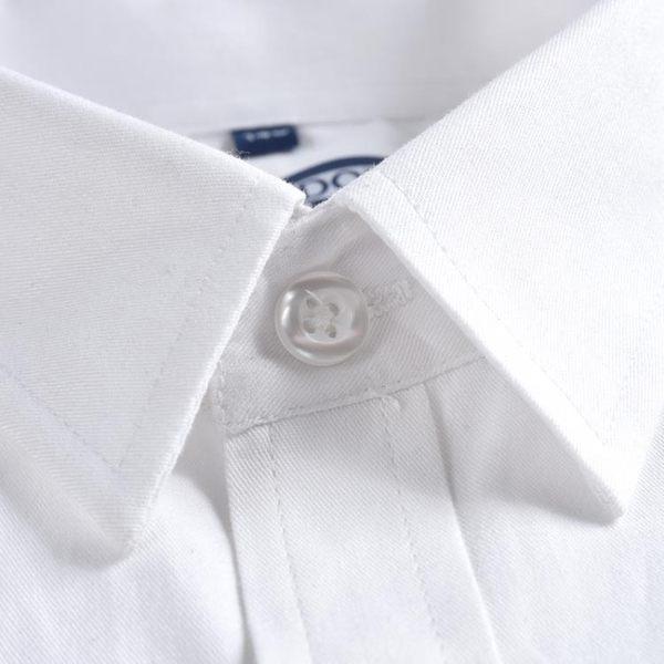 兒童白襯衫男童長袖純棉打底春秋粉藍白色襯衣全棉小學生百搭校服 桃園百貨