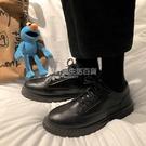 鞋子男士帥氣百搭港風英倫潮流黑色小皮鞋男青少年韓版夏季休閒鞋 設計師生活百貨