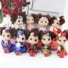 迷糊娃娃禮服公仔,永生花擺飾,高度12公分,關節可活動可坐姿,一隻