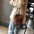 真皮側背包-復古柔軟牛皮手機包女肩背包2色73zu16[巴黎精品]