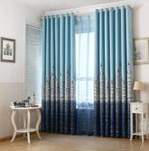 窗簾地中海城堡成品臥室客廳隔熱短簾全遮光遮陽加厚布料 街頭潮人