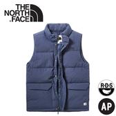 【The North Face 男 600FP羽絨背心《海軍藍》】3VUA/保暖背心/羽絨衣