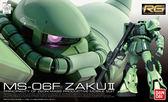 鋼彈組裝模型 BANDAI 機動戰士鋼彈 RG 1/144 MS-06F ZAKUII 量產型薩克 綠薩克 04