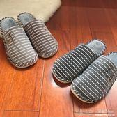 冬季加大碼棉拖鞋男士特大號厚底防滑保暖家居家冬天 深藏blue