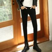 【限時下殺79折】彈力小腳靴型長褲子純黑色靴型褲男士正韓修身小腳牛仔褲