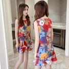 兩件式洋裝 洋氣網紅套裝裙子2020新款...