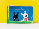 【震撼精品百貨】Gaspard et Lisa_麗莎和卡斯柏~扁化妝包/收納袋-藍#03304
