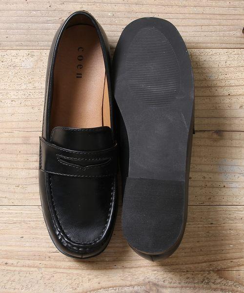 出清 平底樂福鞋 皮鞋 2018秋冬 現貨 免運費 日本品牌【coen】*OTHER1為白黑