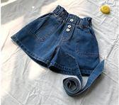 女童高腰牛仔短褲夏季薄款2018新款中大童韓版時尚女孩百搭熱褲潮  百搭潮品
