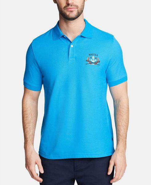 Nautica -Blue Sail系列經典款式馬球衫(夏威夷藍色)