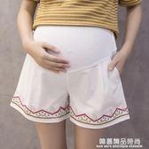 孕婦褲夏季薄款純棉孕婦短褲女夏裝外穿托腹褲寬鬆打底褲寬管褲子