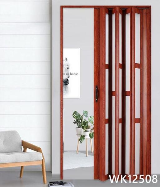 鋁合金折疊門廚房推拉門隔斷客廳隱形衛生間陽台伸縮吊軌移門定制 wk12508