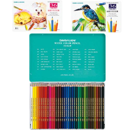 【奇奇文具】雄獅 SIMBALION WP-36 水彩色鉛筆/水性色鉛筆(36色/鐵盒)
