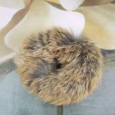 【粉紅堂髮飾】兔毛甜甜圈髮束 *米灰雜色*