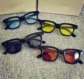 彩色透明眼鏡GDTOP同款方框墨鏡日韓果凍色太陽鏡男女潮復 英雄聯盟