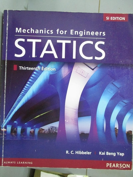 【書寶二手書T4/大學理工醫_YJD】Mechanics For Engineers: Statics_Russell
