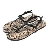 Puma 涼鞋 Cozy Sandal Wns 黑 蛇紋 涼拖鞋 人字拖 夾腳拖 可調式 【ACS】 37521301