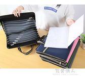 試卷夾文件夾多層學生收納a4手提文件袋商務韓版帆布風琴包卷子夾 完美情人精品館