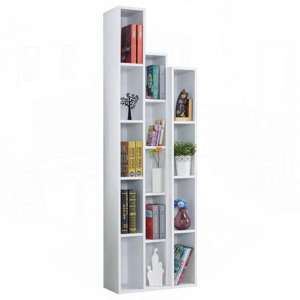 漢克2尺白色開放書櫃–左桶﹝18JF/375-1﹞/ H&D東稻家居