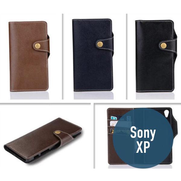SONY Xperia X Performance 純色三角扣 皮套 側翻皮套 時尚 插卡 質感 手機套 手機殼