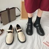 小皮鞋女秋季復古2020新款jk日系平底一字扣英倫風淺口瑪麗珍單鞋『向日葵生活館』