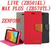秋奇啊喀3C  GOOSPERY 牛仔帆布ZENFONE MAX PLUS ZB570TL 手機殼LIVE ZB501KL 插卡支架保護皮套